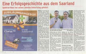 2012 Spektral-Haus Wochenspiegel Neunkirchen 29.08.2012 1200